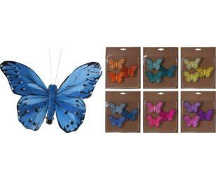 3 clip farfalla cm 10.
