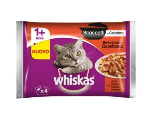 Whiskas straccetti 4x85 g gustoso.