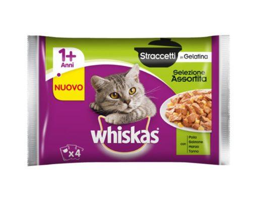 Whiskas straccetti 4x85 g assortito.