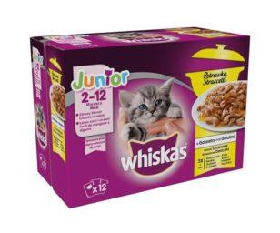 Whiskas multipack straccetti junior 12x85 g delicato.