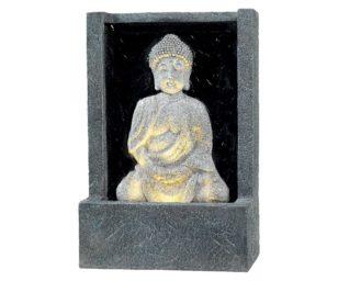 Fontana di buddha con led cm 14x26x39.