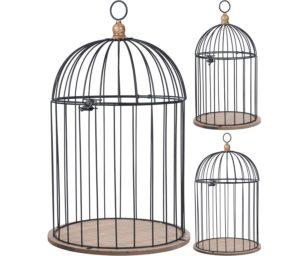 Gabbia uccellini nero cm 48.