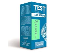 Test strips 7in1 fresh water - ph gh kg no2 no3 cl fe - 100 strips.