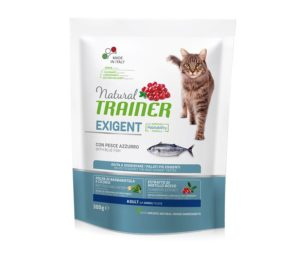 Trainer natural cat exigent blue fish 300 g.