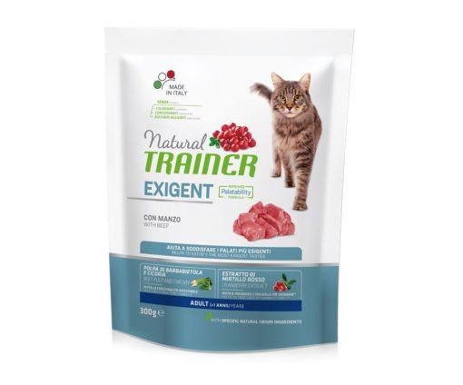 Trainer natural cat exigent beef 300 g.