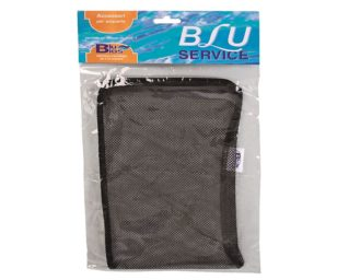 Mantovani sacchetto con zip carbone cm 15x21