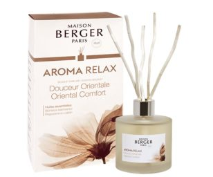 Lampe berger aroma relax 180 ml con bastoncini.