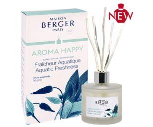 Lampe berger aroma happy 180 ml con bastoncini.