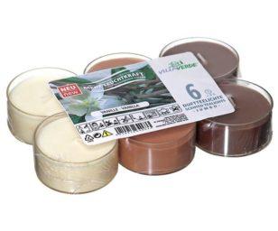 Confezione 6 candele tealight profumate vaniglia.