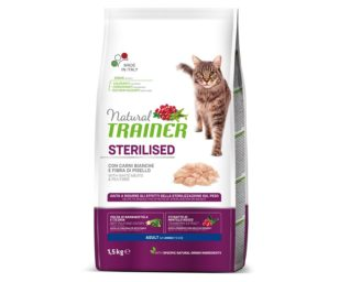 Trainer natural cat sterilized white meat 1