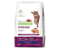 Trainer natural cat sterilized salmon 3 kg.