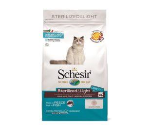 Schesir sterilized light fish 400 g.
