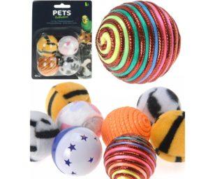 4 palline gioco gatti.
