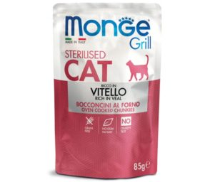 Monge grill sterilized vitello 85 g buste.