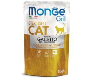 Monge grill sterilized galletto 85 g buste.