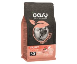 Oasy dry dog grain free puppy small/mini tacchino 800 g.
