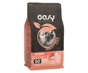 Oasy dry dog grain free puppy small/mini tacchino 800 g.
