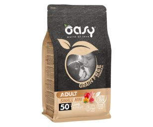 Oasy dry dog grain free adult small/mini agnello 800 g.