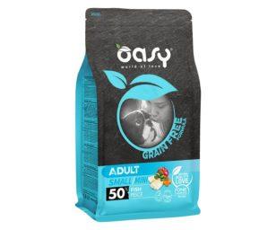 Oasy dry dog grain free adult small/mini pesce 800 g.