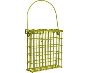 Distributore blocchi grasso verde colori d'autunno.