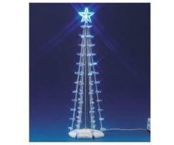 Lighted silhouette tree(blue)
