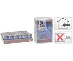 30 led batteria multicolor filo trasparente m 3+0