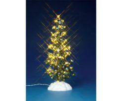 Lighted pine tree