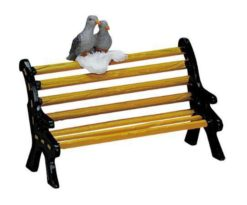 Metal bench.