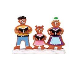Gingerbread carolers.
