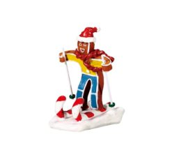 Candy cane skier.