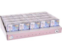 80 led batteria multicolor filo trasparente
