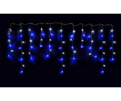 Stalattiti led 72 led ice giochi luce cm 220x80 filo trasparente.