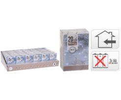 20 led batteria bianco filo trasparente - interno - m 2+0