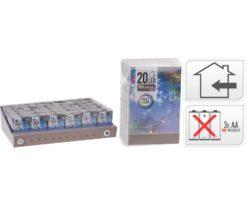 20 led batteria multicolor filo trasparente - interno - m 2+0
