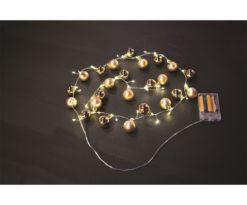 Collana 24 sferette oro lucido/opaco cm 3 - mt 1