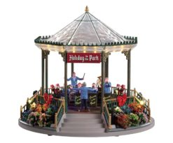 Holiday garden green bandstand