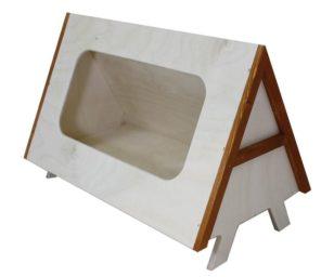 Casetta in betulla cm 45x29x30h.