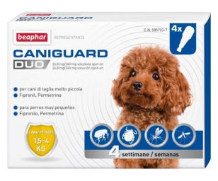 Beaphar caniguard duo cane xs 4 pipette.