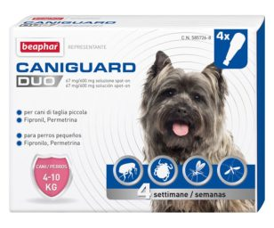 Beaphar caniguard duo cane s 4 pipette.