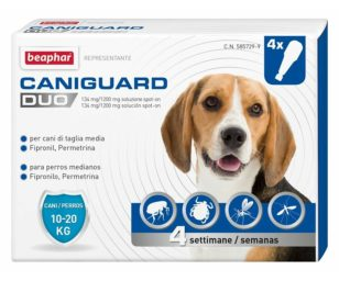Beaphar caniguard duo cane m 4 pipette.