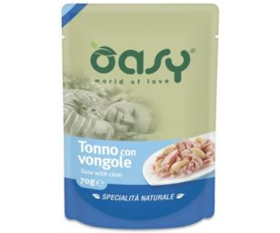 Oasy wet cat more love-tonno/vongole 70 g busta.