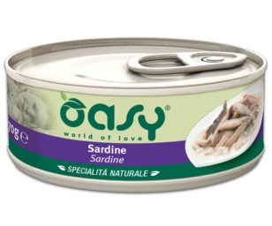 Oasy wet cat-sardine lattina 70 g.