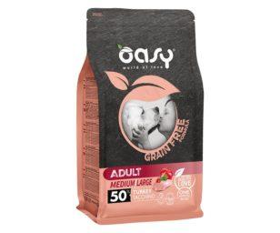 Oasy dry dog grain free adult medium/large tacchino 12 kg.