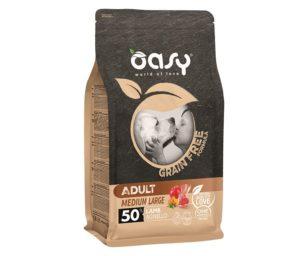 Oasy dry dog grain free adult medium/large agnello 12 kg.