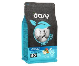 Oasy dry dog grain free adult medium/large pesce 12 kg.