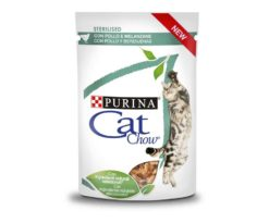 Cat chow sterilised pollo e melanzane 85 g.