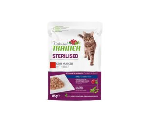 Trainer cat natural sterilized beef 85 g busta.