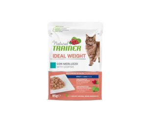 Trainer cat natural ideal weight codfish 85 g busta.