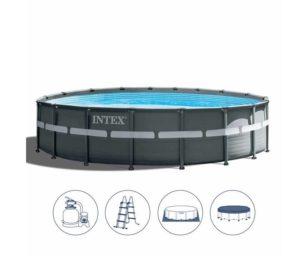Intex piscina ultra xtr frame cm 488x122 pompa a sabbia