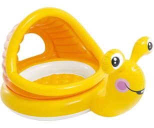 Intex piscina baby lumaca con parasole cm 145x102x74.